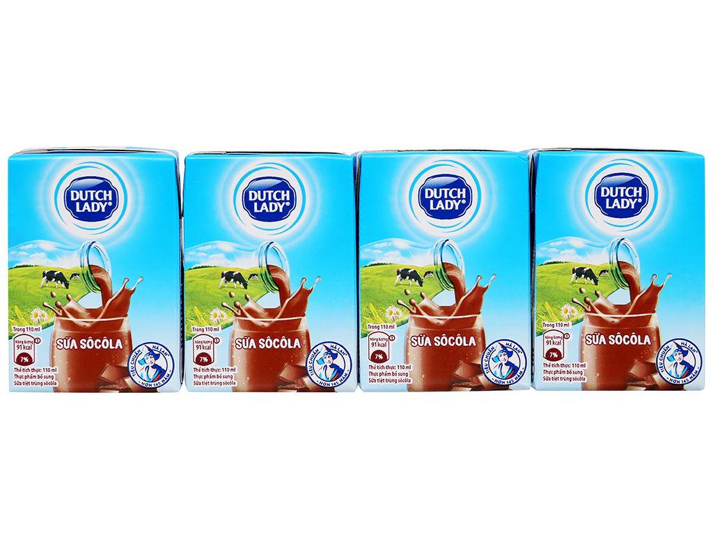 Thùng 48 hộp sữa tiệt trùng socola Dutch Lady 110ml 6