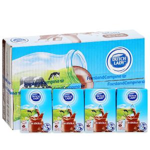 Thùng 48 hộp sữa tiệt trùng socola Dutch Lady 110ml