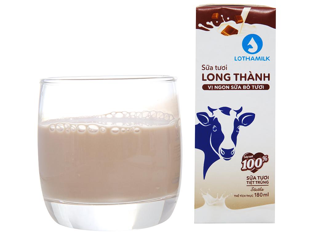 Lốc 4 hộp sữa tươi tiệt trùng Lothamilk sô cô la 180ml 4