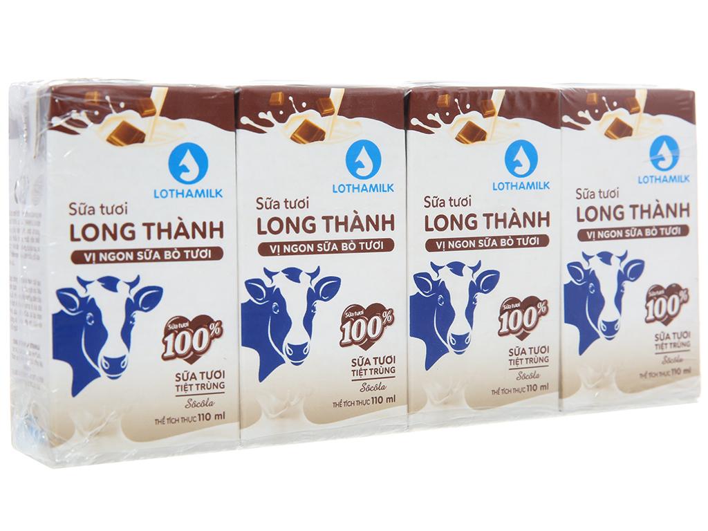 Lốc 4 hộp sữa tươi tiệt trùng Lothamilk sô cô la 1