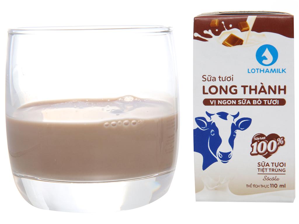 Lốc 4 hộp sữa tươi tiệt trùng Lothamilk sô cô la 3