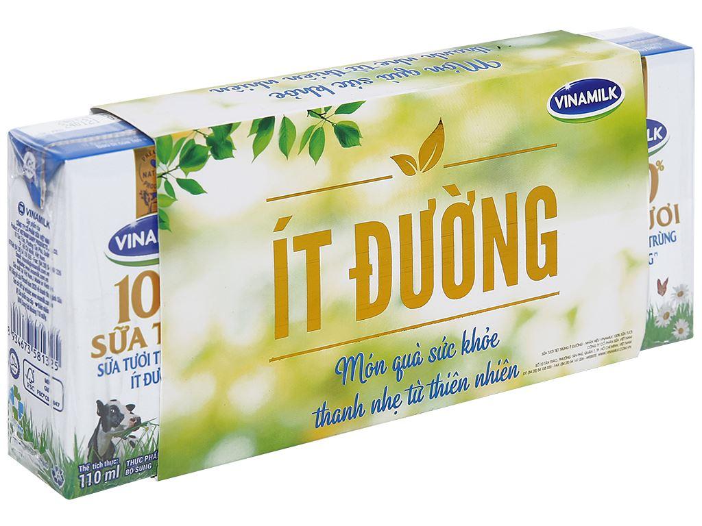Lốc 4 hộp sữa tươi ít đường Vinamilk 100% Sữa Tươi 110ml 1