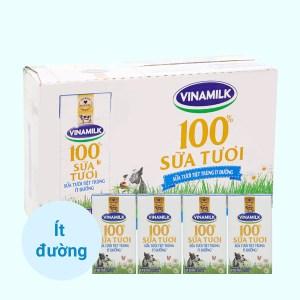Thùng 48 hộp sữa tươi ít đường Vinamilk 100% Sữa Tươi 110ml