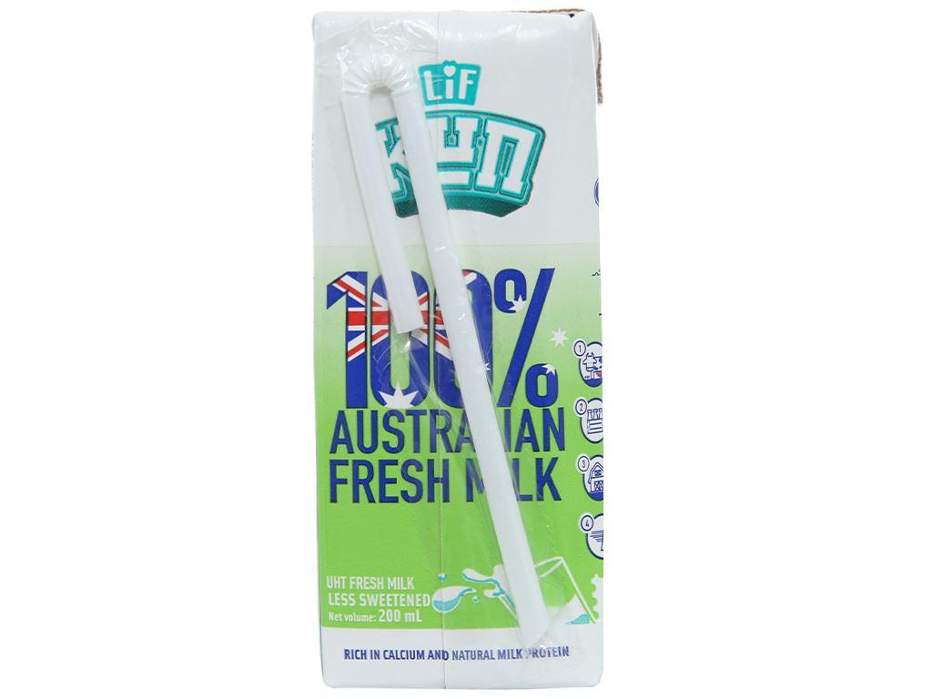 Lốc 6 hộp sữa tươi tiệt trùng LiF Kun ít đường 200ml 3