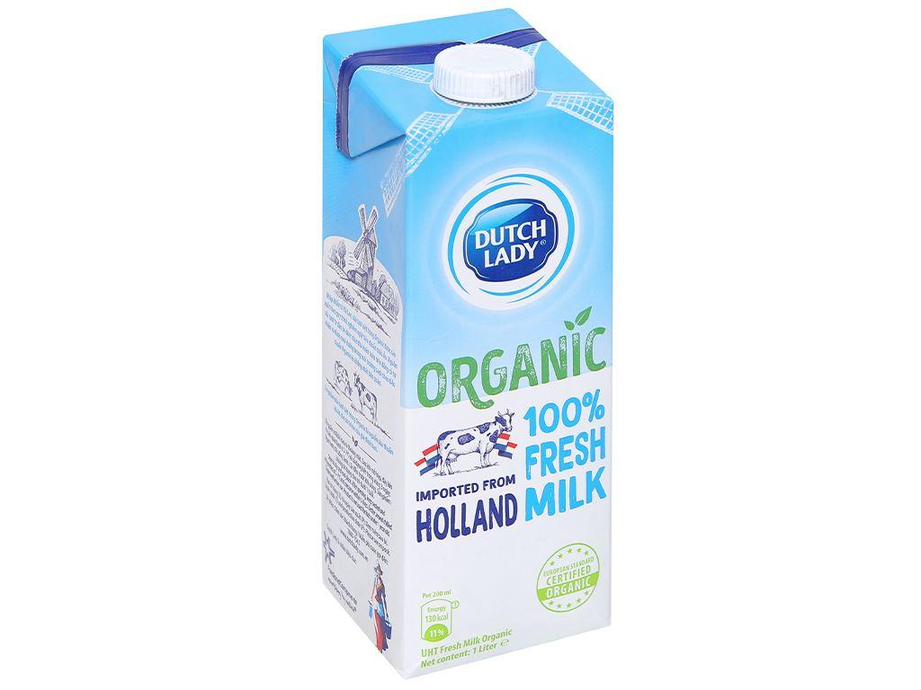 Thùng 12 hộp sữa tươi tiệt trùng Dutch Lady 100% Organic 1 lít 5
