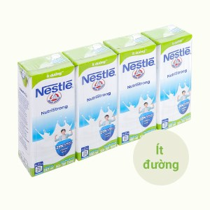 Lốc 4 hộp sữa tiệt trùng ít đường Nestlé NutriStrong 180ml