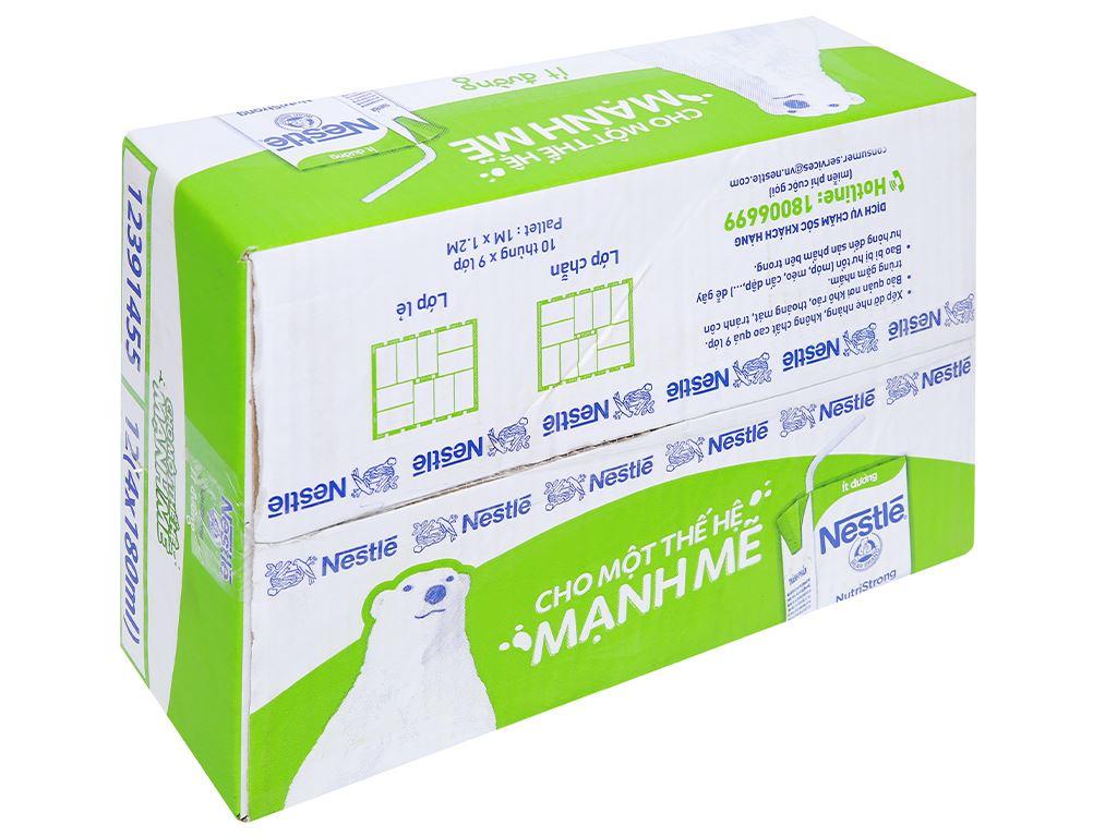 Thùng 48 hộp sữa tiệt trùng ít đường Nestlé NutriStrong 180ml 1