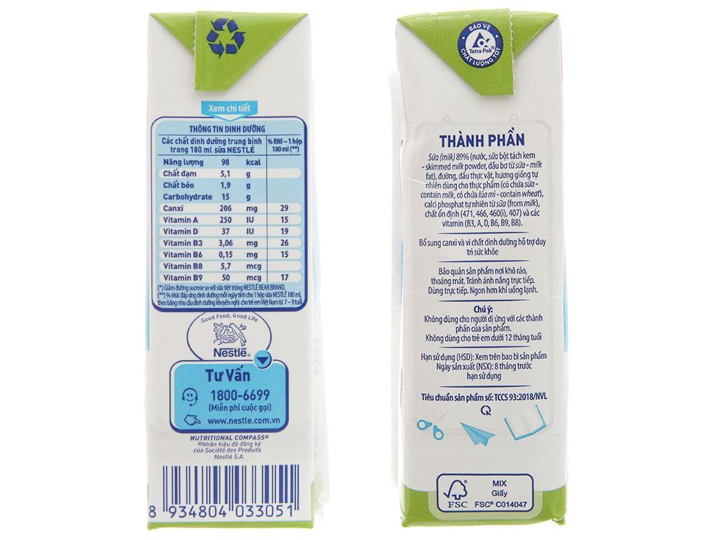 Thùng 48 hộp sữa tiệt trùng Nestlé NutriStrong ít đường 180ml 5