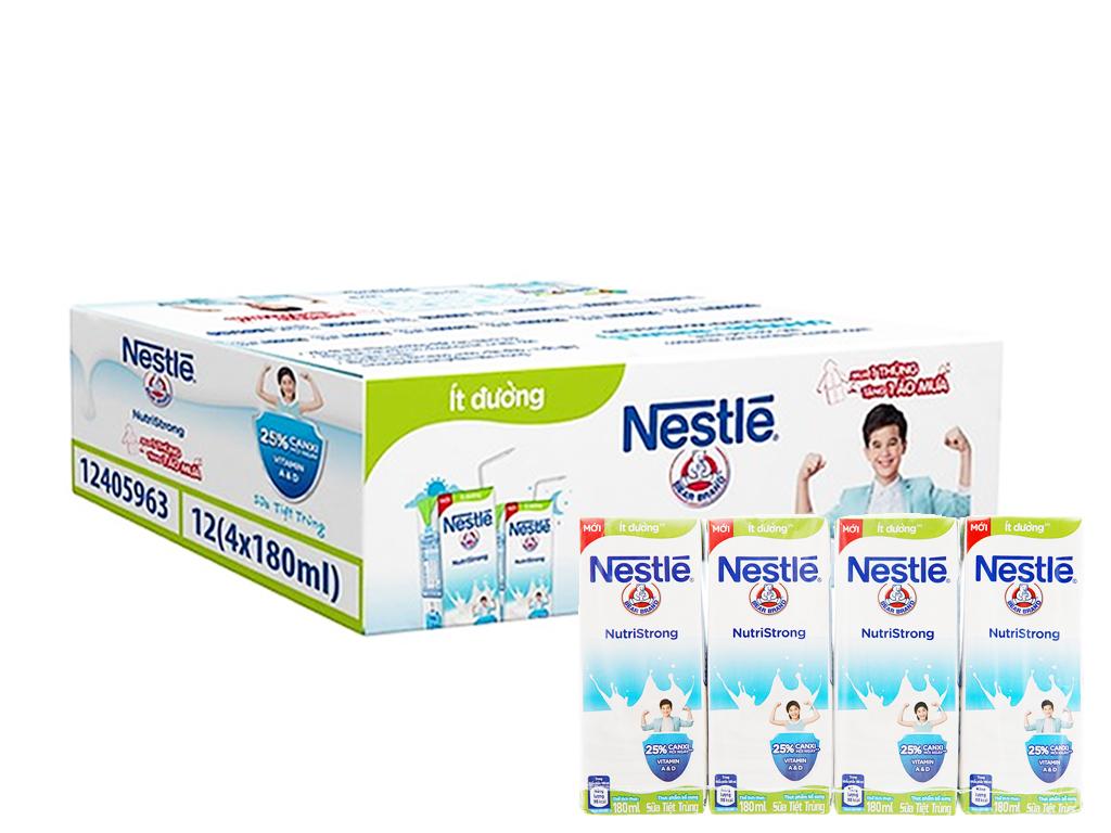 Thùng 48 hộp sữa tiệt trùng Nestlé NutriStrong ít đường 180ml 1
