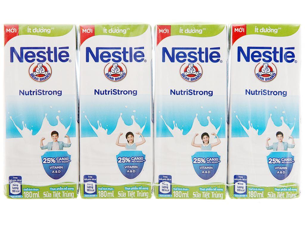 Thùng 48 hộp sữa tiệt trùng Nestlé NutriStrong ít đường 180ml 2