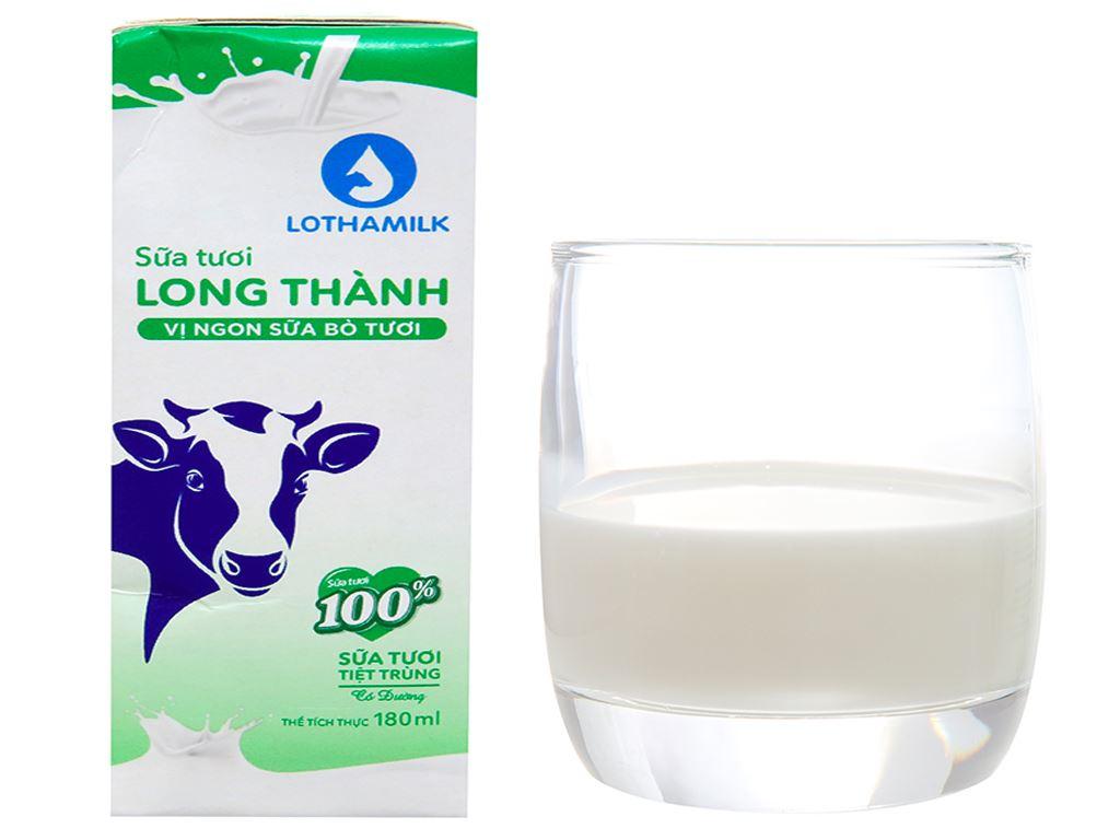 Lốc 4 hộp sữa tươi tiệt trùng có đường Lothamilk 180ml 2