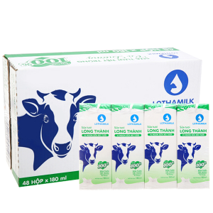Thùng 48 hộp sữa tươi tiệt trùng có đường Lothamilk 180ml