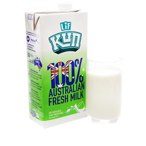 Sữa tươi tiệt trùng LiF Kun ít đường hộp 1 lít