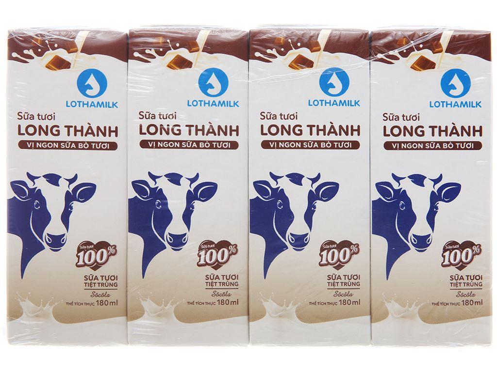 Lốc 4 hộp sữa tươi tiệt trùng socola Lothamilk 180ml 1