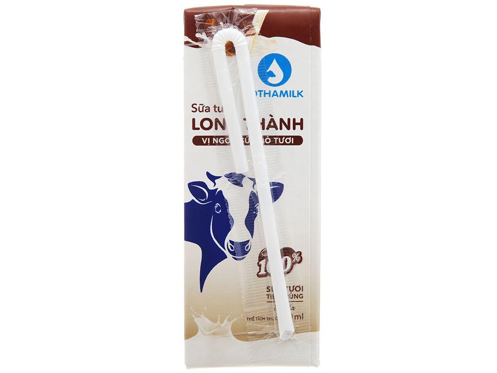 Thùng 48 hộp sữa tươi tiệt trùng socola Lothamilk 180ml 3