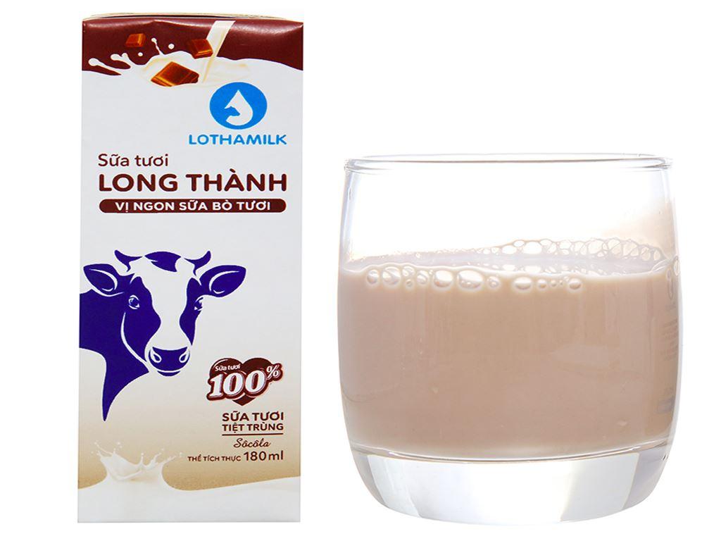 Thùng 48 hộp sữa tươi tiệt trùng socola Lothamilk 180ml 2