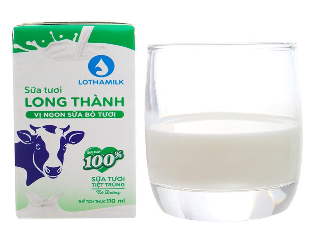 Thùng 48 hộp sữa tươi tiệt trùng có đường Lothamilk 110ml 2