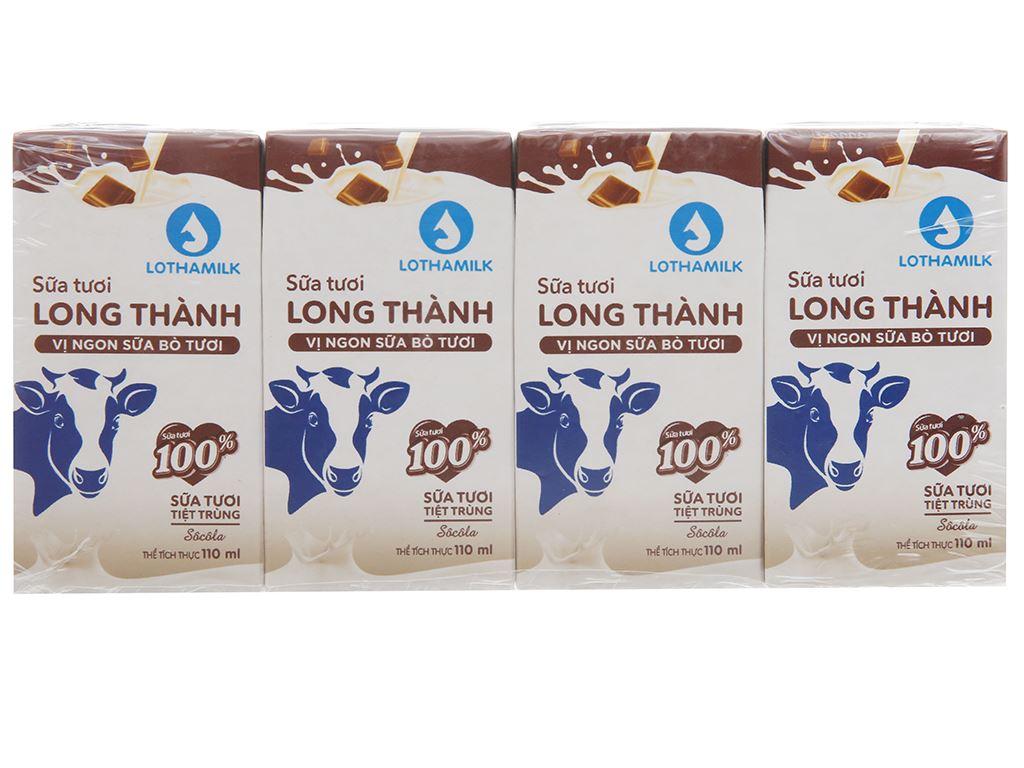 Lốc 4 hộp sữa tiệt trùng socola Lothamilk 110ml 1
