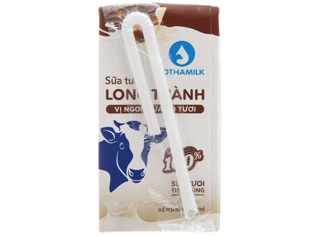 Lốc 4 hộp sữa tiệt trùng socola Lothamilk 110ml 3