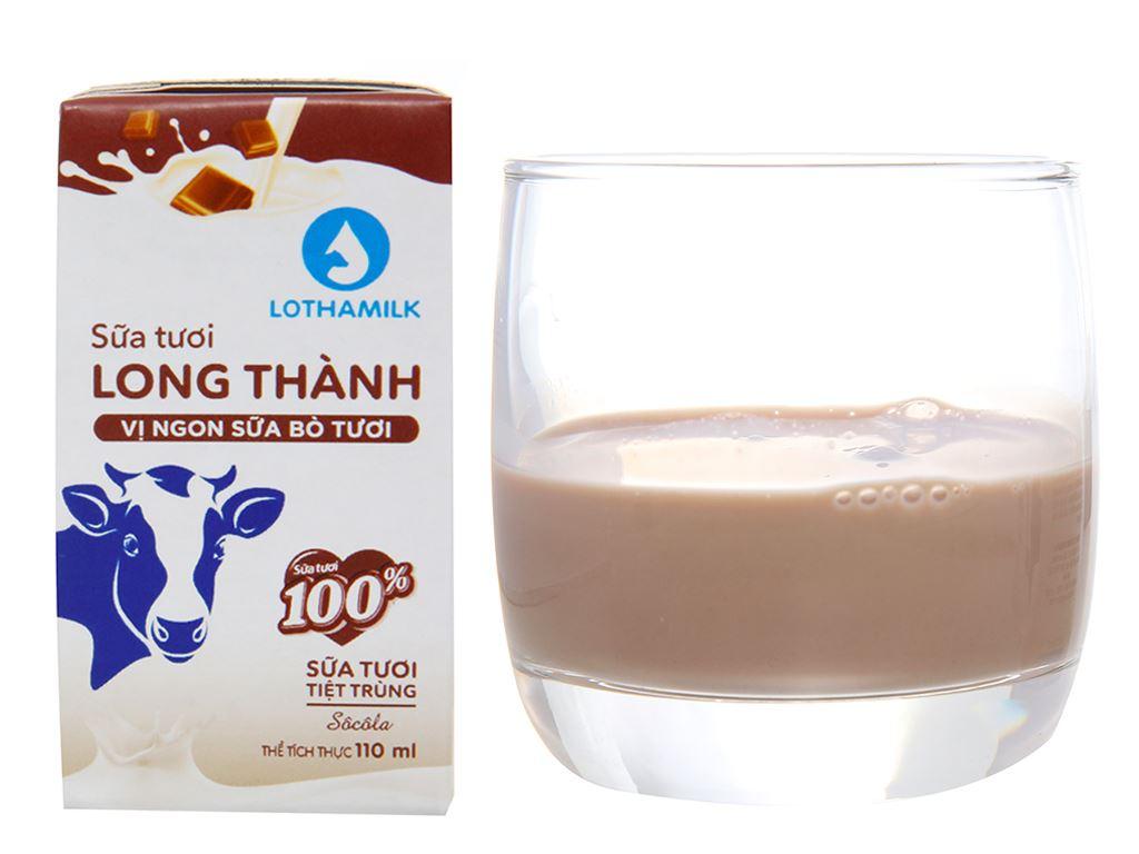 Lốc 4 hộp sữa tiệt trùng socola Lothamilk 110ml 2