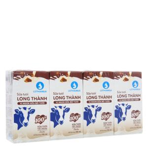 Lốc 4 hộp sữa tiệt trùng Lothamilk sô cô la 110ml