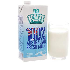 Sữa tươi tiệt trùng LiF Kun không đường hộp 1 lít