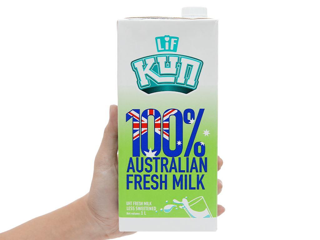 Thùng 12 hộp sữa tươi tiệt trùng ít đường LiF Kun 1 lít 13
