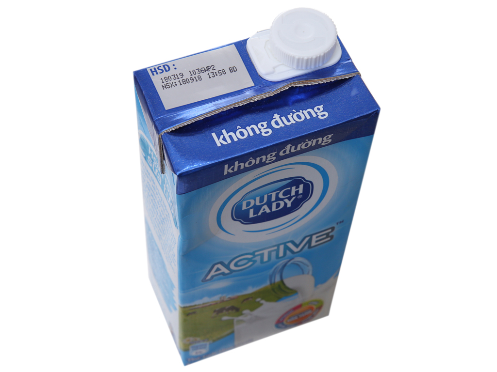Thùng 12 hộp sữa tươi tiệt trùng Dutch Lady không đường 1 lít 3