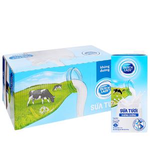 Thùng 12 hộp sữa tươi tiệt trùng Dutch Lady không đường 1 lít