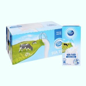 Thùng 12 hộp sữa tươi tiệt trùng không đường Dutch Lady 1 lít
