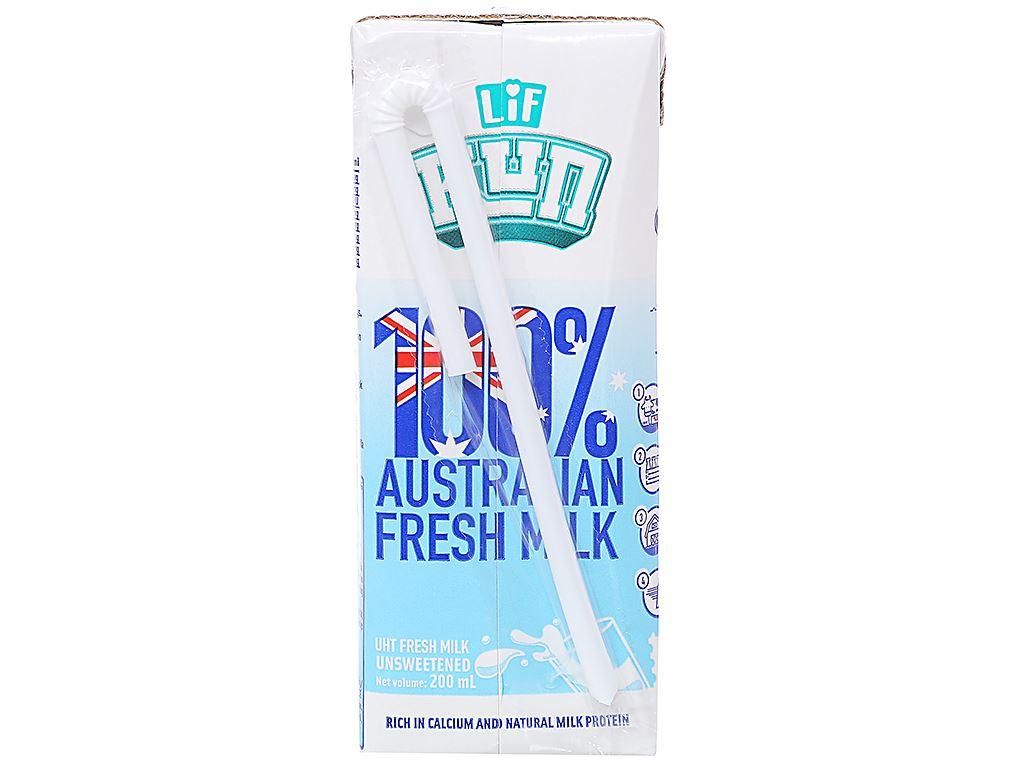 Thùng 24 hộp sữa tươi tiệt trùng không đường LiF Kun 200ml 4