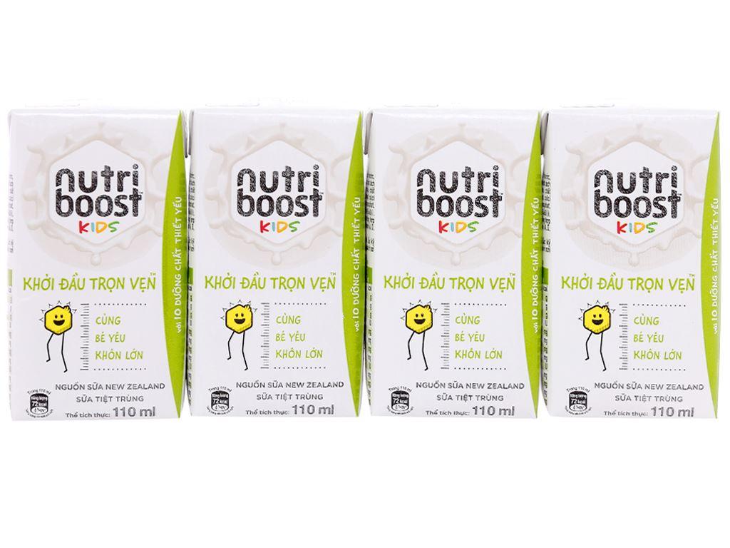 Lốc 4 hộp sữa tiệt trùng Nutriboost Kids Khởi Đầu Trọn Vẹn 110ml 1