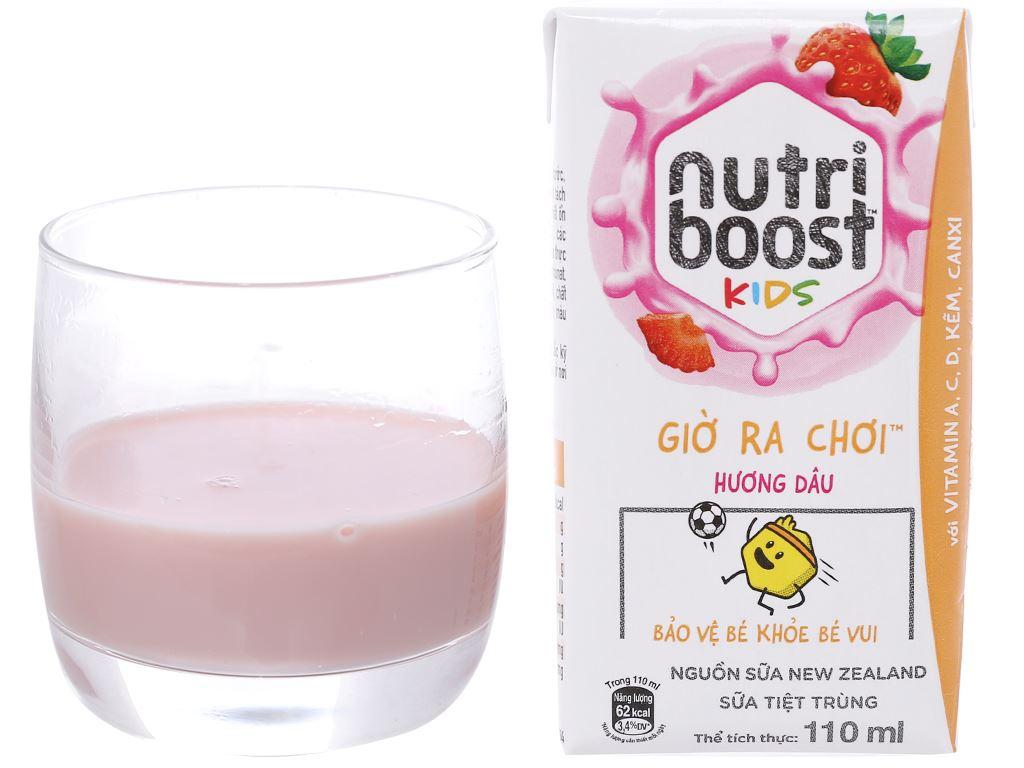 Thùng 48 hộp sữa tiệt trùng Nutriboost Kids Giờ Ra Chơi 110ml 5