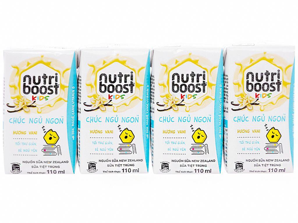 Lốc 4 hộp sữa tiệt trùng Nutriboost Kids Chúc Ngủ Ngon 110ml 1