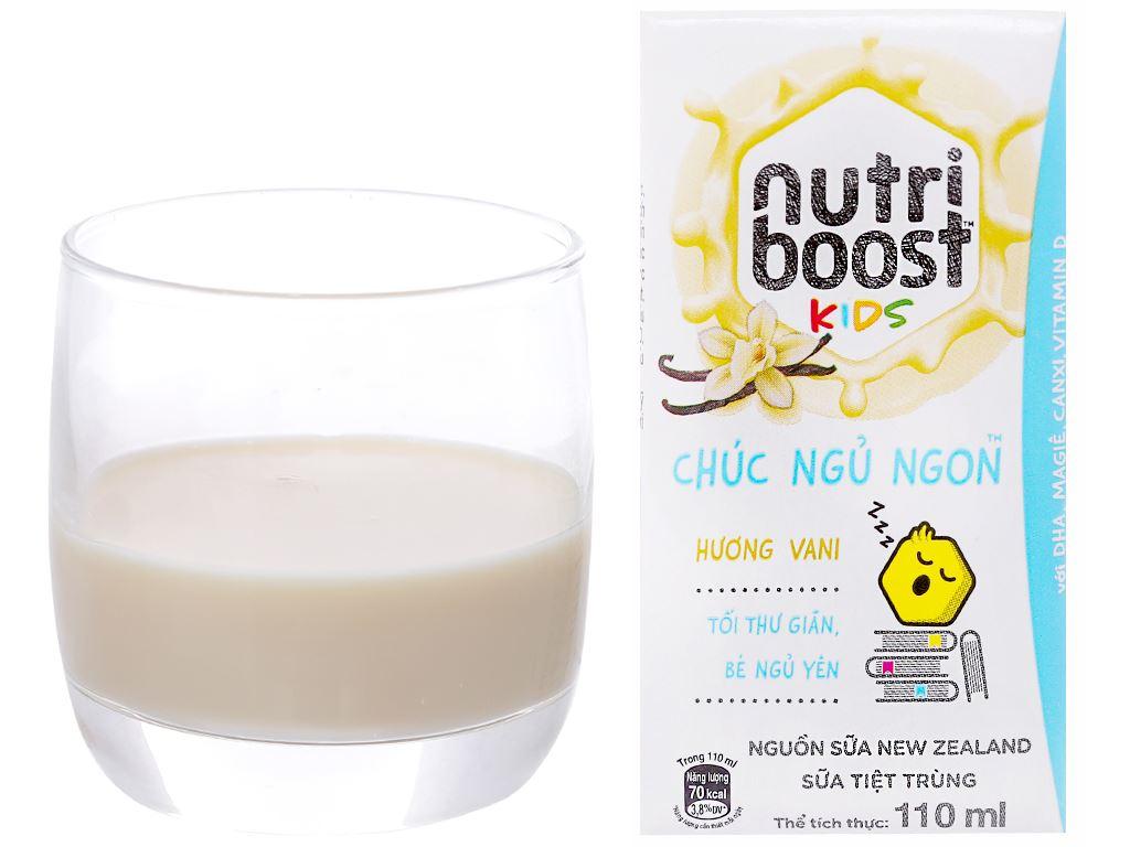 Lốc 4 hộp sữa tiệt trùng Nutriboost Kids Chúc Ngủ Ngon 110ml 4