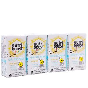 Lốc 4 hộp sữa tiệt trùng Nutriboost Kids Chúc Ngủ Ngon 110ml