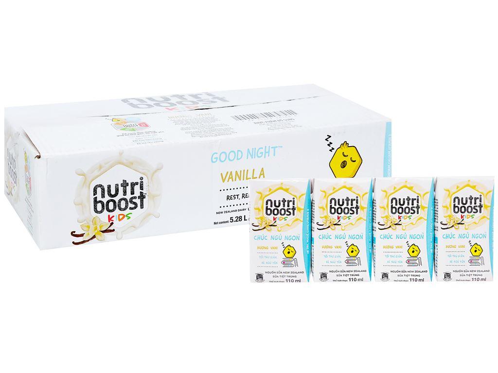 Thùng 48 hộp sữa tiệt trùng Nutriboost Kids Chúc Ngủ Ngon 110ml 1