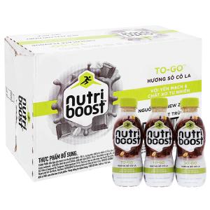 Thùng 24 chai sữa tiệt trùng Nutriboost To-Go socola chai 220ml