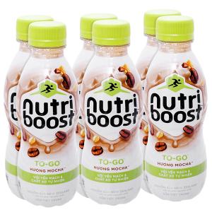 Lốc 6 chai sữa tiệt trùng Nutriboost To-Go hương mocha chai 220ml
