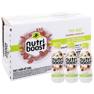Thùng 24 chai sữa tiệt trùng Nutriboost To-Go hương mocha chai 220ml