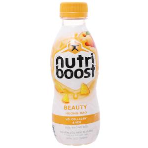Sữa tiệt trùng Nutriboost Beauty hương đào chai 220ml
