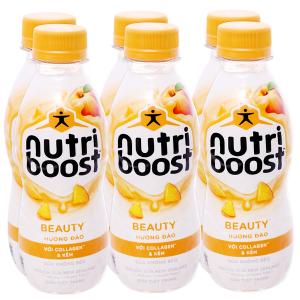 Lốc 6 chai sữa tiệt trùng Nutriboost Beauty hương đào chai 220ml