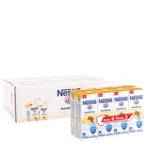 Thùng 36 hộp sữa tiệt trùng Nestlé NutriStrong hương trái cây 180ml (tặng 12 hộp cùng loại)