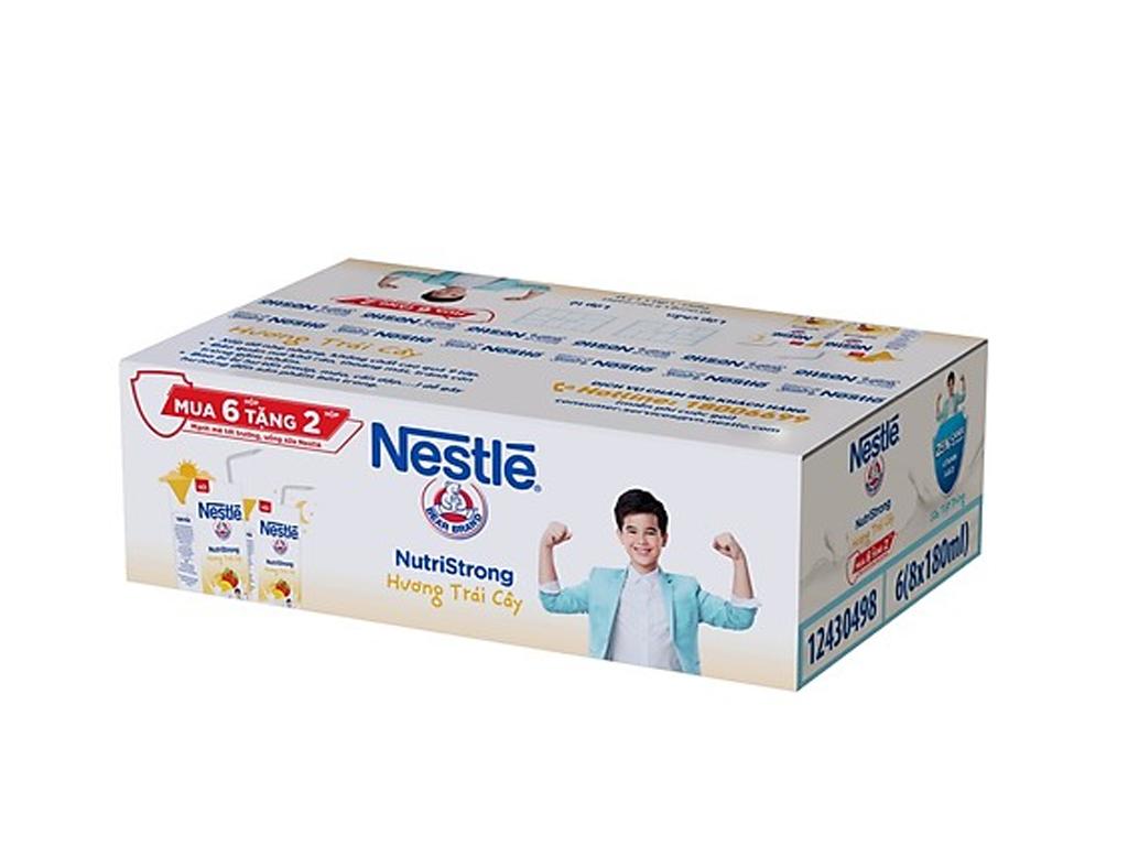 Thùng 36 hộp sữa tiệt trùng Nestlé NutriStrong hương trái cây 180ml (tặng 12 hộp cùng loại) 1