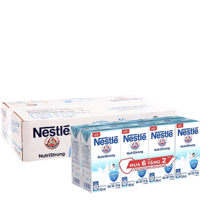 Thùng 36 hộp sữa tiệt trùng Nestlé NutriStrong có đường 115ml (tặng 12 hộp cùng loại)