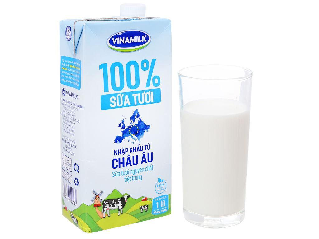 Sữa tươi nguyên chất không đường Vinamilk Nhập khẩu 100% hộp 1 lít 7