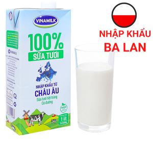 Sữa tươi tiệt trùng có đường Vinamilk Nhập khẩu 100% hộp 1 lít