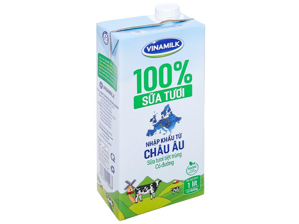 Sữa tươi tiệt trùng có đường Vinamilk Nhập khẩu 100% hộp 1 lít 1