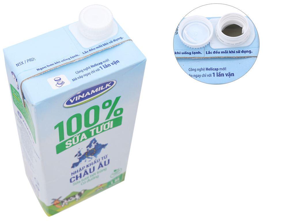 Thùng 12 hộp sữa tươi tiệt trùng có đường Vinamilk Nhập khẩu 100% 1 lít 3