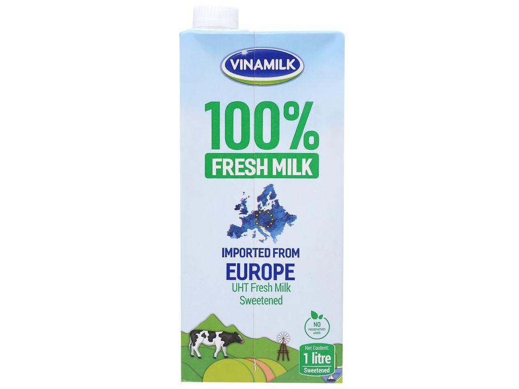 Thùng 12 hộp sữa tươi tiệt trùng có đường Vinamilk Nhập khẩu 100% 1 lít 4
